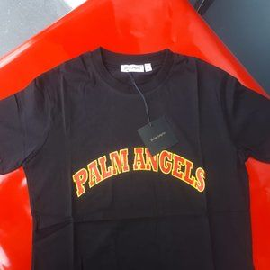 PALM ANGELS MAN BLACK COLOR SHORT SLEEVE TSHIRT